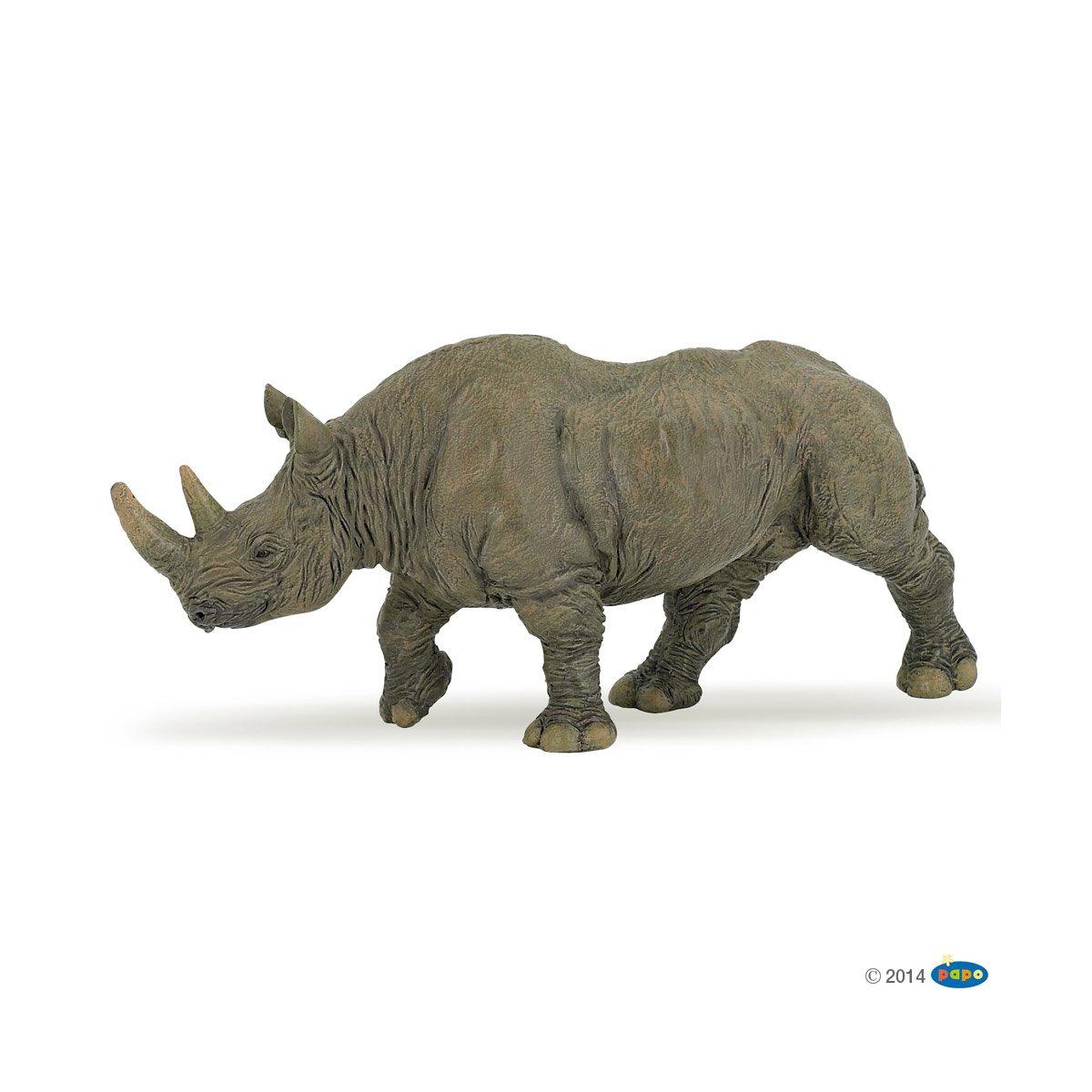 Figurine Noir Grande Rhinocéros La Récré Les Animaux 2WEbDIe9HY