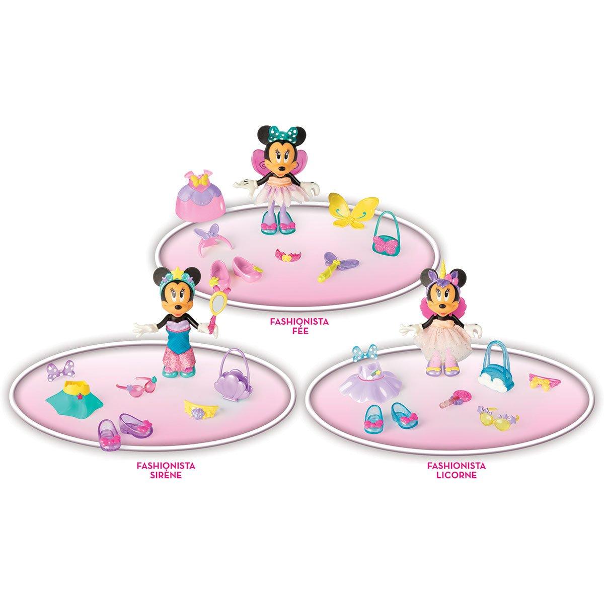 Figurine 15 Cm Minnie Fashionistas Fantaisies Licorne Sirene Ou