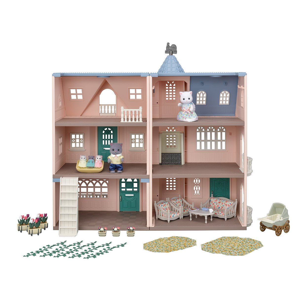 Le Coffret 3 Maisons Et Accessoires Sylvanian Families Edition 35 Ans Les Heros Et Personnages La Grande Recre
