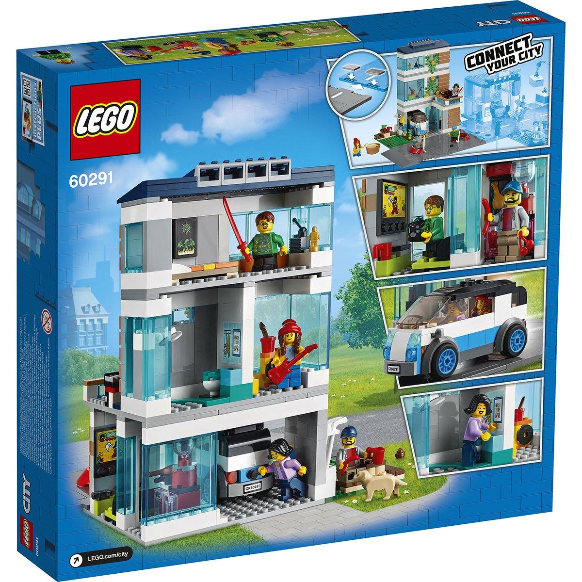 La Maison Familiale Moderne Lego City 60291 Ville Et Univers Urbains La Grande Recre