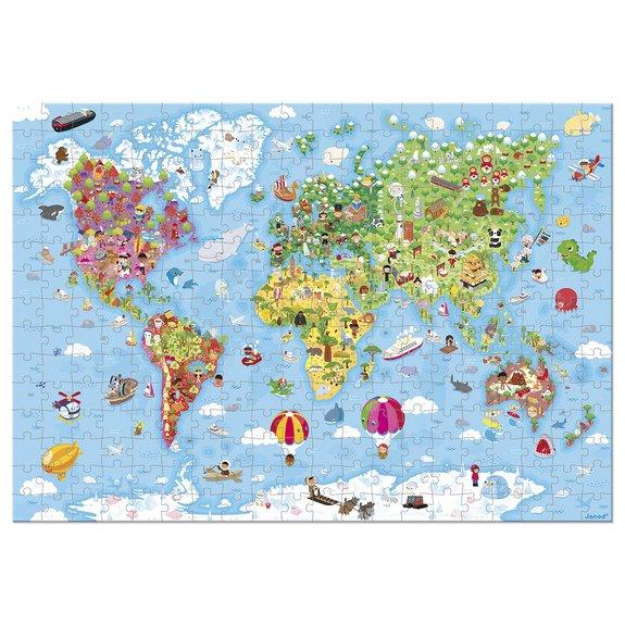 Puzzle géant 300 pièces : Carte du monde