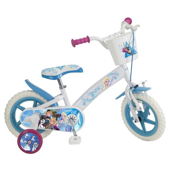 Vélo 12 Reine des Neiges Bleu et Blanc
