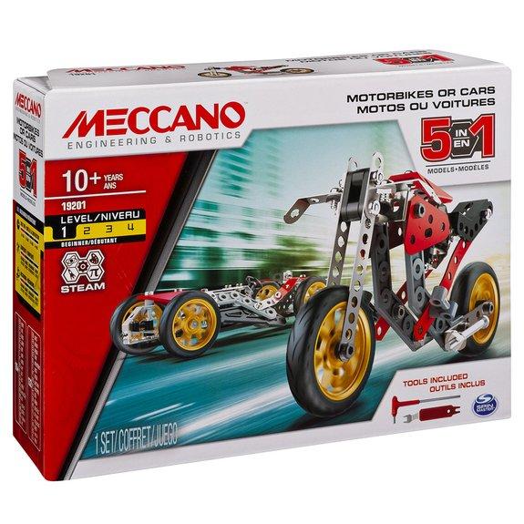 Voiture et moto - 5 Modèles Meccano