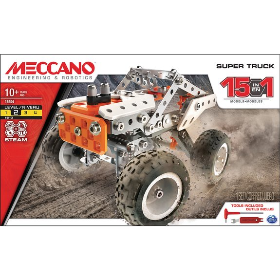 Super truck : 15 modèles Meccano