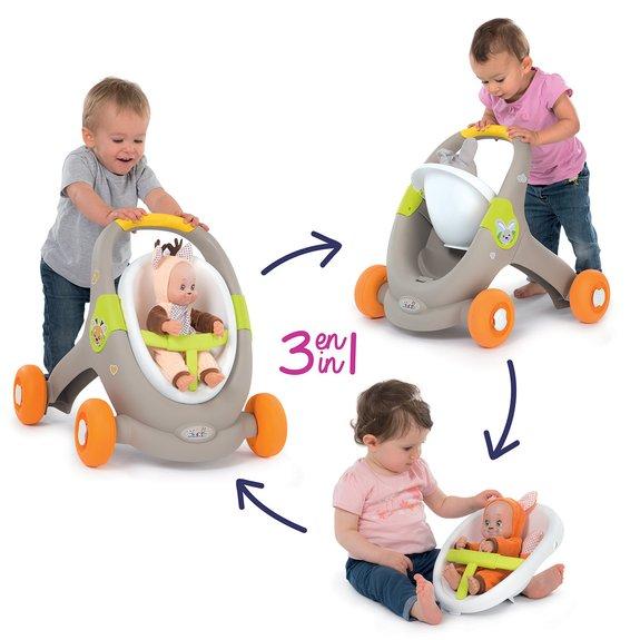 Smoby Trotteur Enfant Minikiss Animals 3 en 1