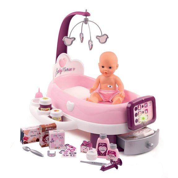 Smoby Nursery Electronique Baby Nurse + Poupon + 24 Accessoires