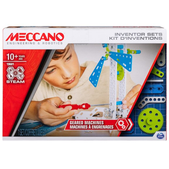 Meccano - Set 3 - Kit d'inventions engrenages