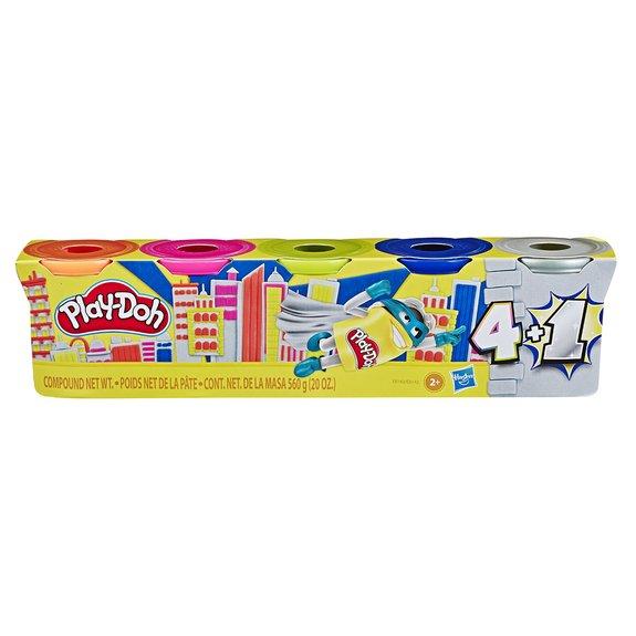 Coffret Play-Doh 5 pots or ou argent