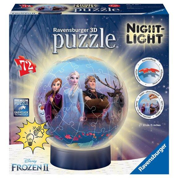 Puzzle 3D Rond 72 Pièces Illuminé La Reine des Neiges 2