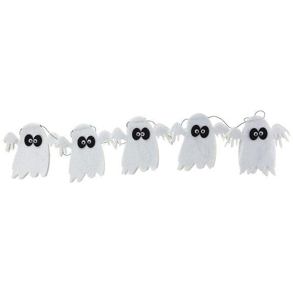 Guirlande Feutre Fantômes Blancs