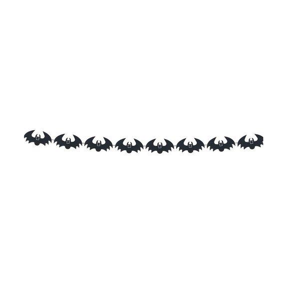 Guirlande Feutre Chauve-souris Noires