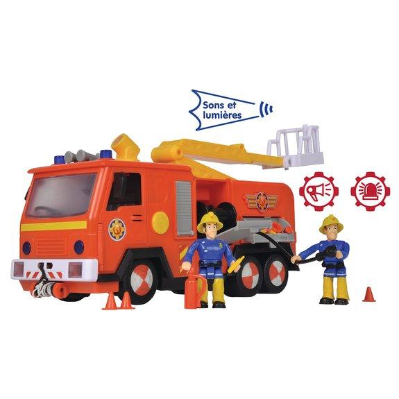 Camion de pompier Jupiter et figurines Sam le Pompier