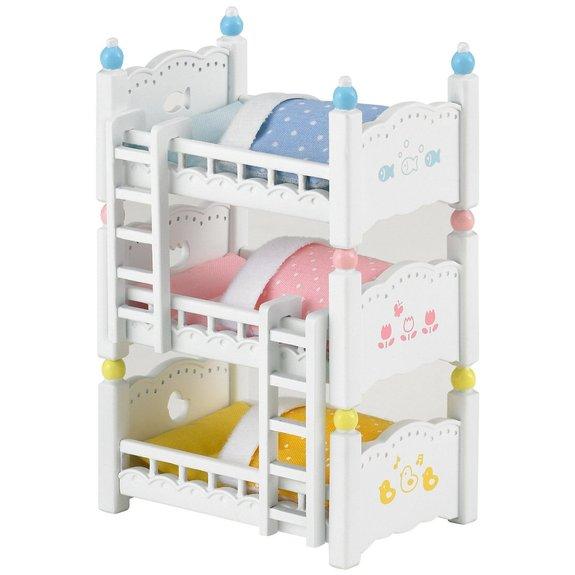 Lits superposés à 3 couchettes - Sylvanian Families 2919