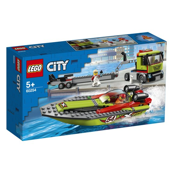 Le transport du bateau de course LEGO City 60254