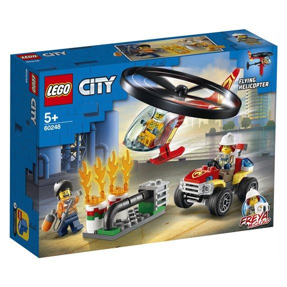 Lintervention de lhélicoptère des pompiers LEGO City 60248