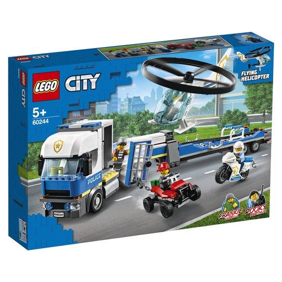 Le transport de lhélicoptère de la police LEGO City 60244