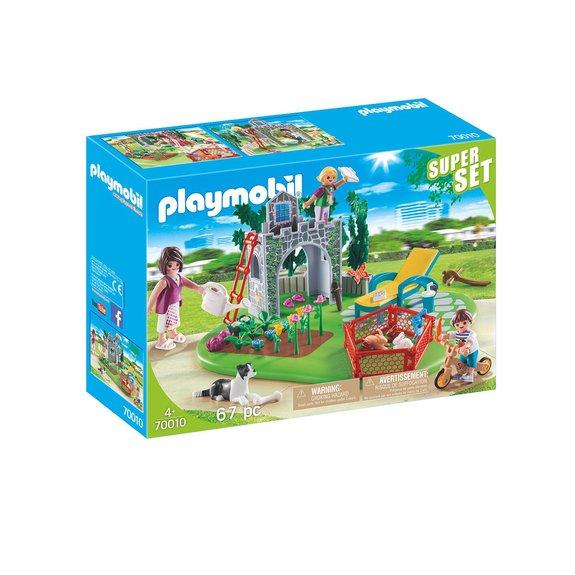 SuperSet Famille et jardin Playmobil 70010