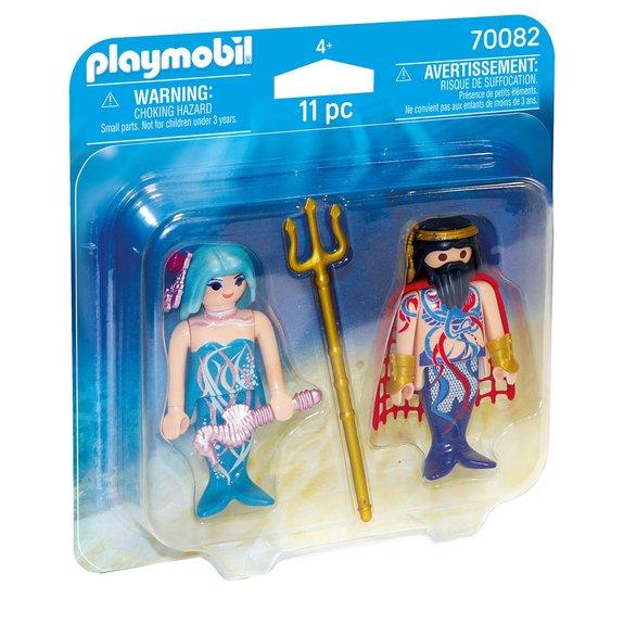 Roi des mers et sirène Playmobil Magic 70082