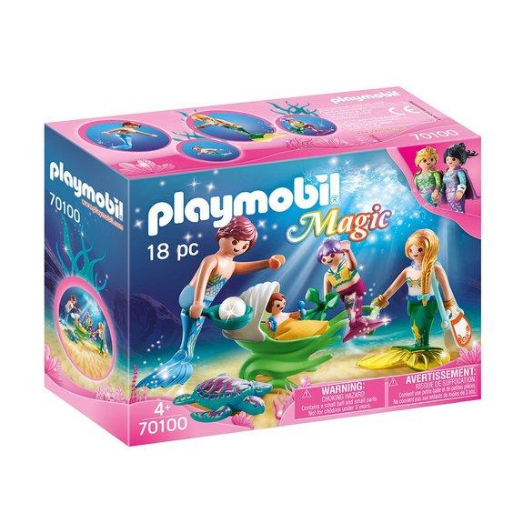 Famille de sirènes Playmobil Magic 70100