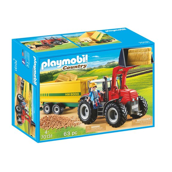 Grand tracteur avec remorque Playmobil Country 70131
