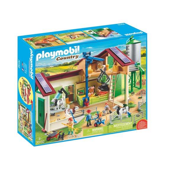 Grande ferme avec silo et animaux Playmobil Country 70132