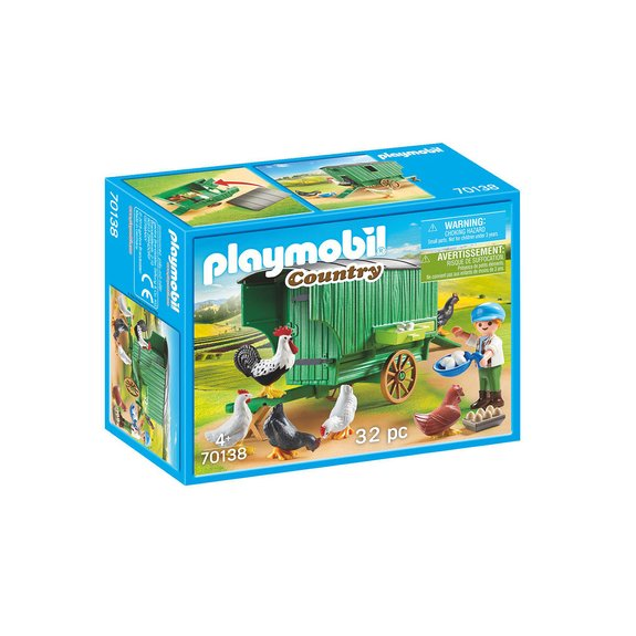 Enfant et poulailler Playmobil Country 70138