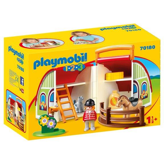 Centre équestre transportable Playmobil 1.2.3 70180