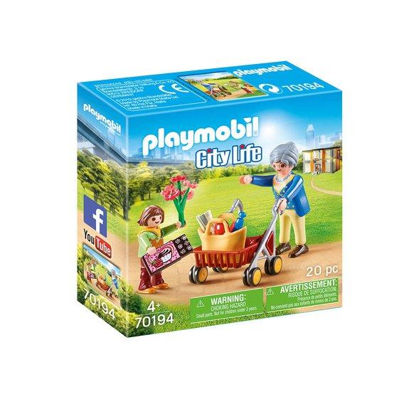 Petite fille et grand-mère Playmobil City Life 70194