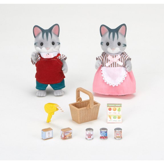 Chats gris commerçants - Sylvanian Families 2813