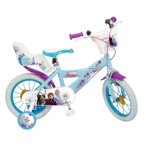 Vélo 16 pouces La Reine des Neiges 2 avec panier et porte-poupée