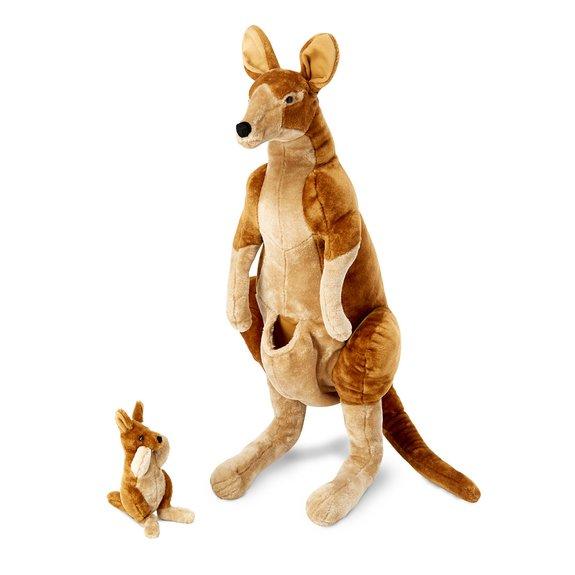 La maman et le bébé kangourou