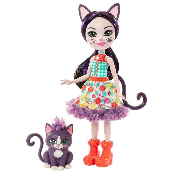 Enchantimals - Mini-poupée Ciesta Chat avec Pounce