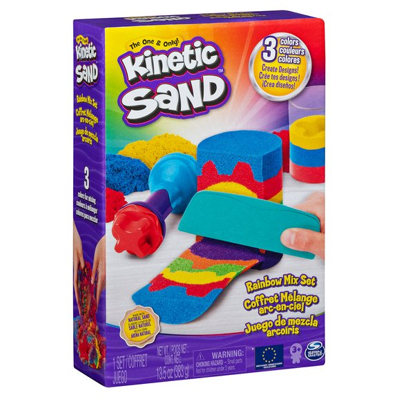 Kinetic Sand - Coffret sable naturel mélange arc-en-ciel
