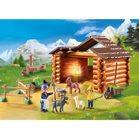 Peter avec étable de chèvres Playmobil Heidi 70255