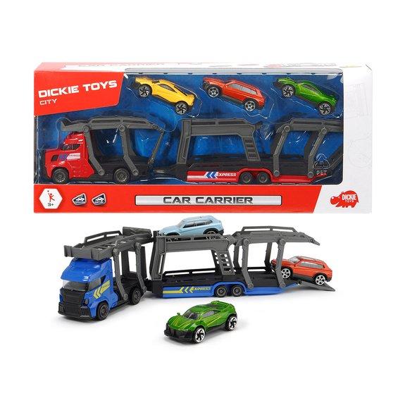 Camion porte-voiture + 3 voitures