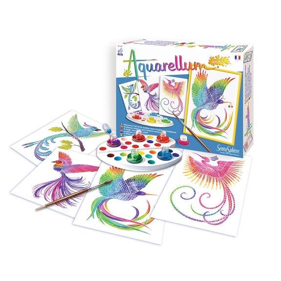 Aquarellum junior : oiseau du paradis