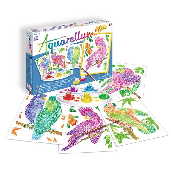 Aquarellum junior : perroquets