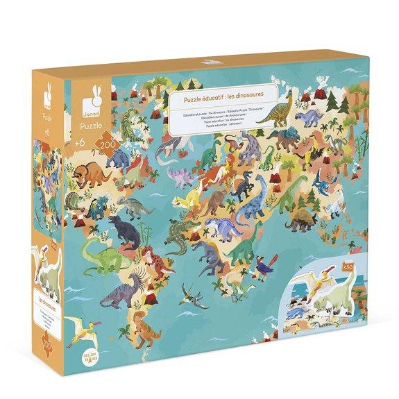 Puzzle éducatif géant 200 pièces - Dinosaures