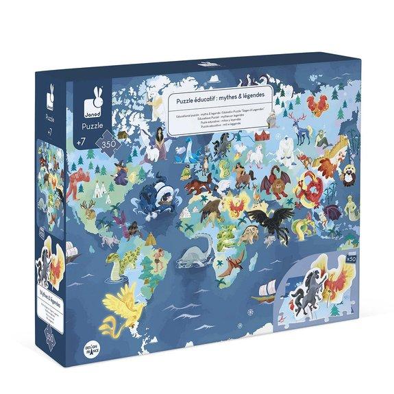 Puzzle éducatif géant 350 pièces - mythes et légendes du monde