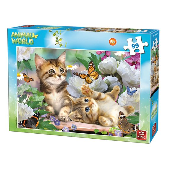 Puzzle 99 pièces King Animal World Collection - Chatons