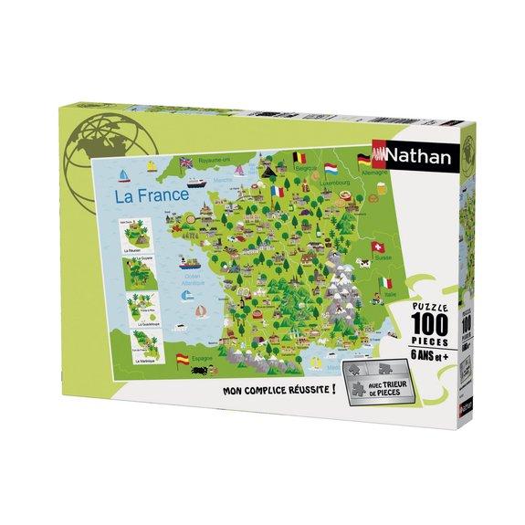 Puzzle 100 pièces Carte de France