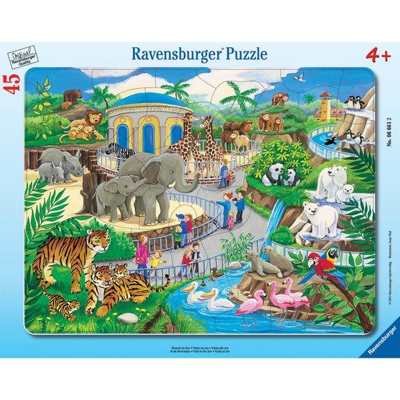 Puzzle cadre 30 - 48 pièces - Visite au zoo