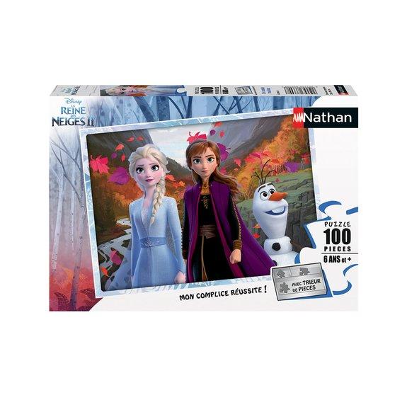 Puzzle 100 pièces - Un monde magique - Disney La Reine des Neiges 2