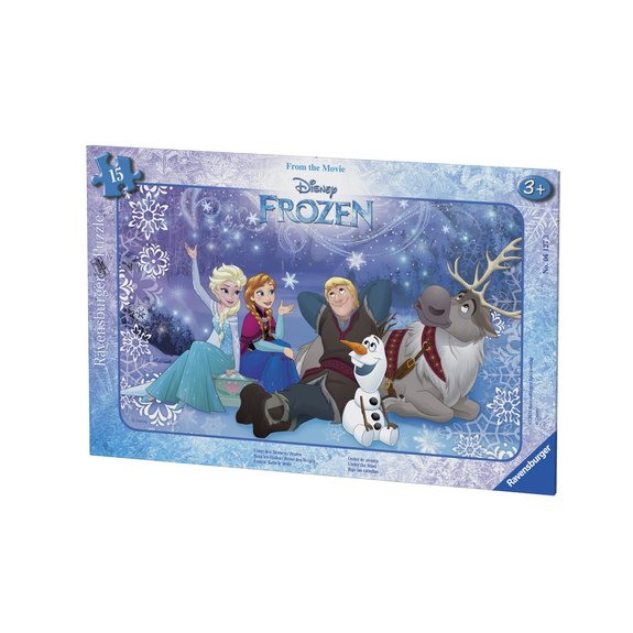 Puzzle cadre 15 pièces - Sous les étoiles - Disney La Reine des Neiges