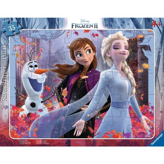 Puzzle cadre 30-48 pièces - La magie de la Nature - Disney La Reine des Neiges 2