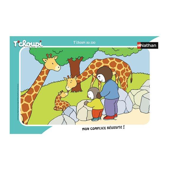 Puzzle cadre 15 pièces - T'choupi au zoo