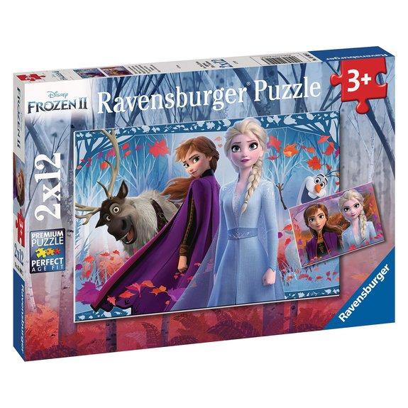 Puzzles 2x12 pièces - Voyage vers l'inconnu - Disney La Reine des Neiges 2
