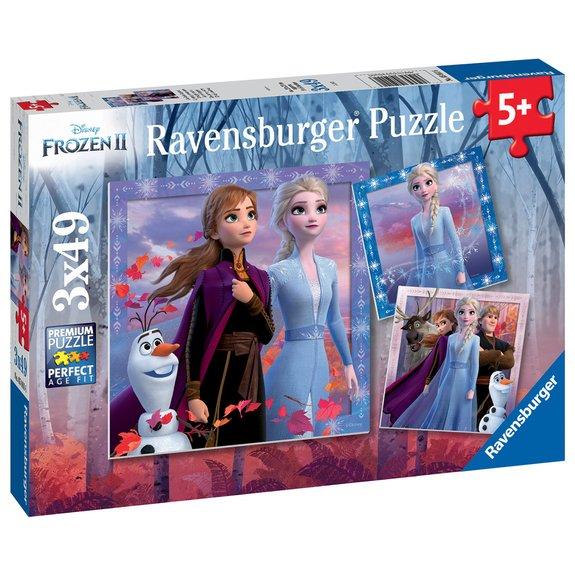 Puzzles 3x49 pièces - Le voyage commence - Disney La Reine des Neiges 2