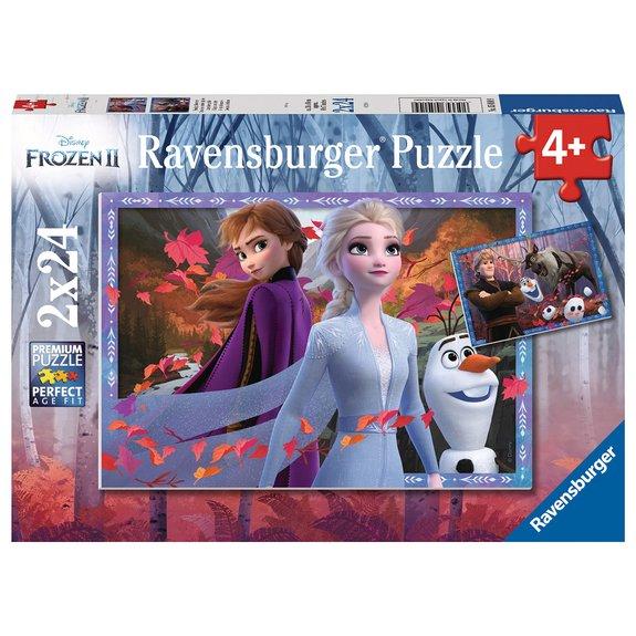 Puzzles 2x24 pièces - Vers des contrées glacées - Disney La Reine des Neiges 2