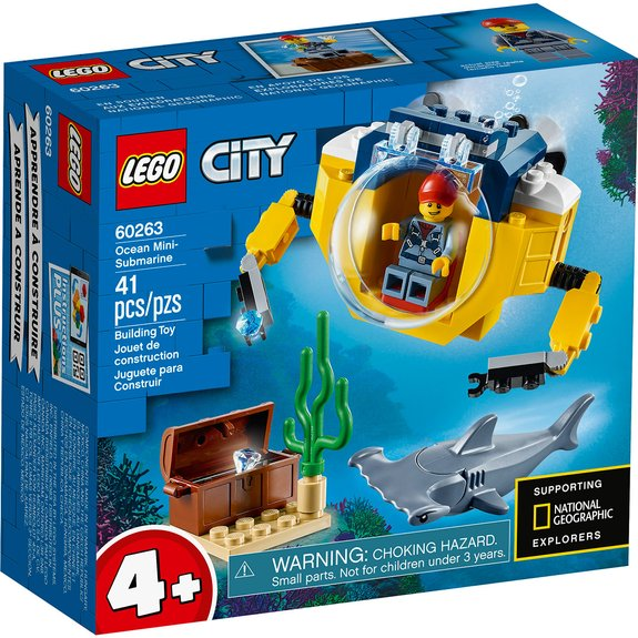Le mini sous-marin LEGO City 60263